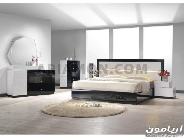 سرویس خواب مدرن سیاه مدل BS120