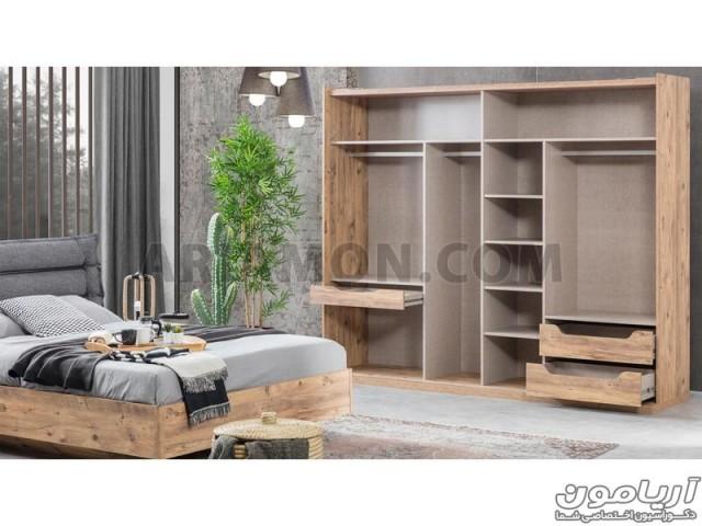 سرویس خواب چوب و فلز BS124