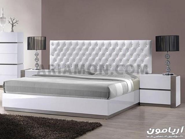 تخت خواب سفید هایگلاس مدل B140