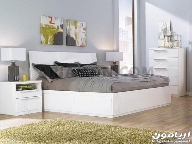 سرویس خواب ساده سفید