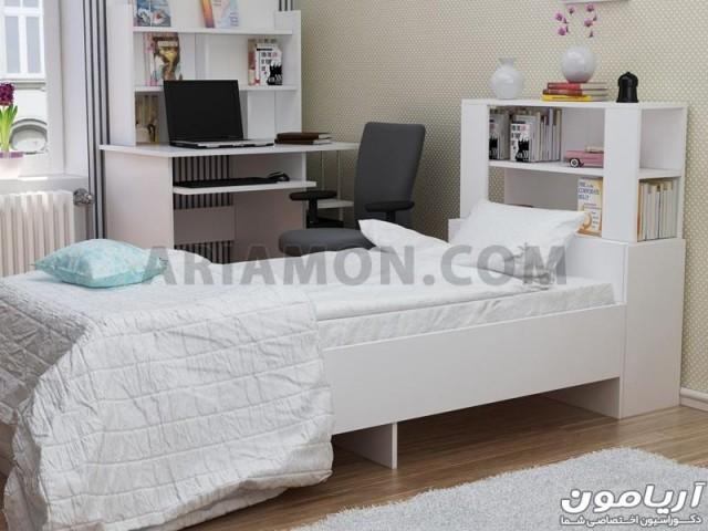 تخت خواب سفید نوجوان B119