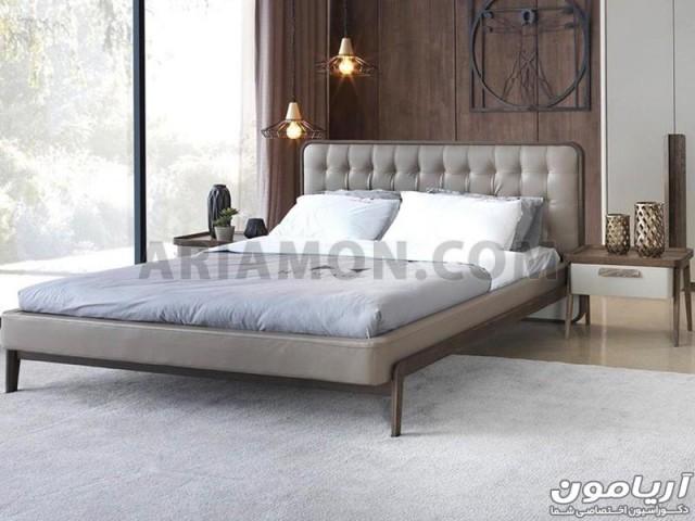 تخت خواب مدرن 160 چوبی B129
