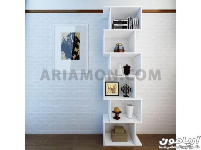 کتابخانه دیواری سفید ساده