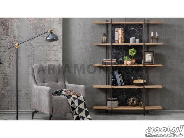 قفسه کتاب چوب و فلز BC129