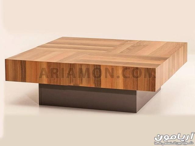 میز جلو مبلی مربع چوبی