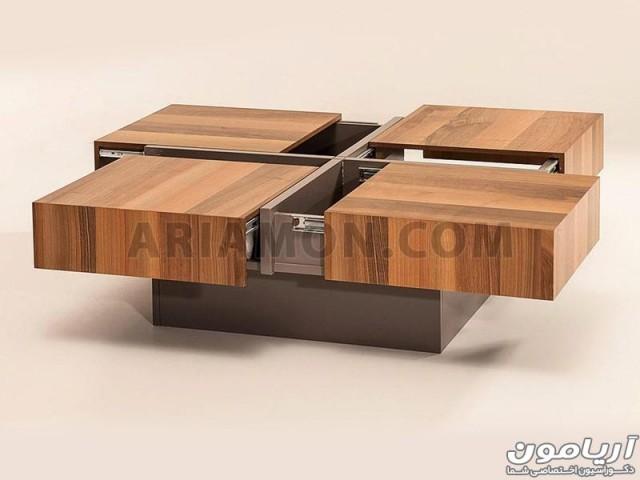 میز جلو مبلی مربع چهار کشو مدل CT103