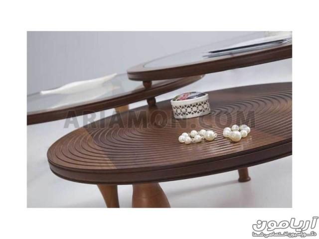 میز جلو مبلی گرد دایره شکل مدل CT104
