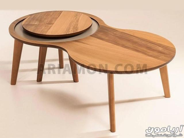 میز جلو مبلی گرد و کمجا