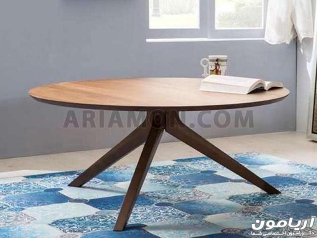 میز جلو مبلی گرد مدرن