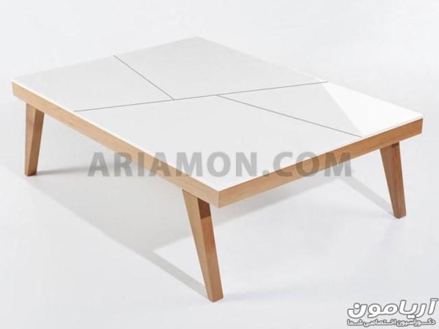 میز جلو مبلی رنگی مستطیل
