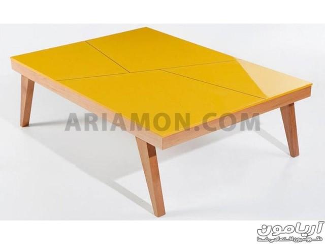 میز جلو مبلی رنگی مستطیل مدل CT117