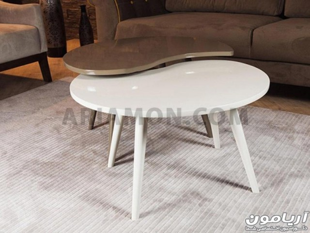 میز جلو مبلی طرح دار