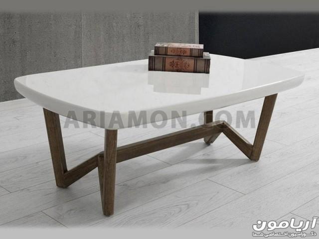 میز جلو مبلی مدرن سفید