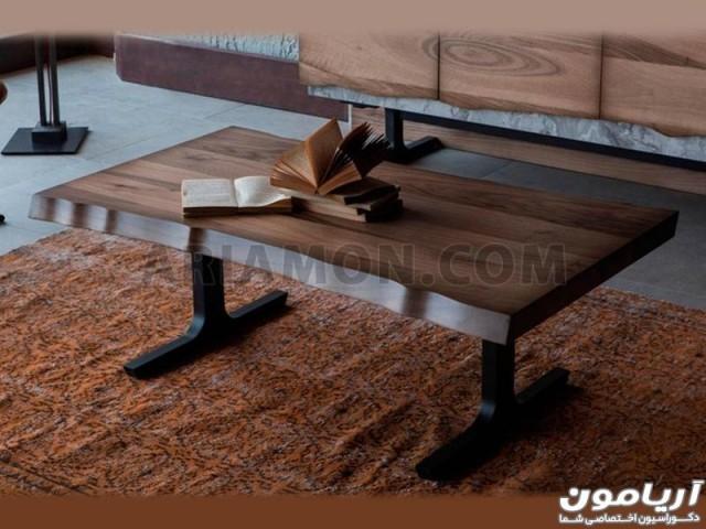 میز جلو مبلی چوبی مدل CT140
