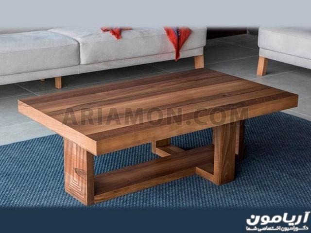 میز جلو مبلی چوبی شیک