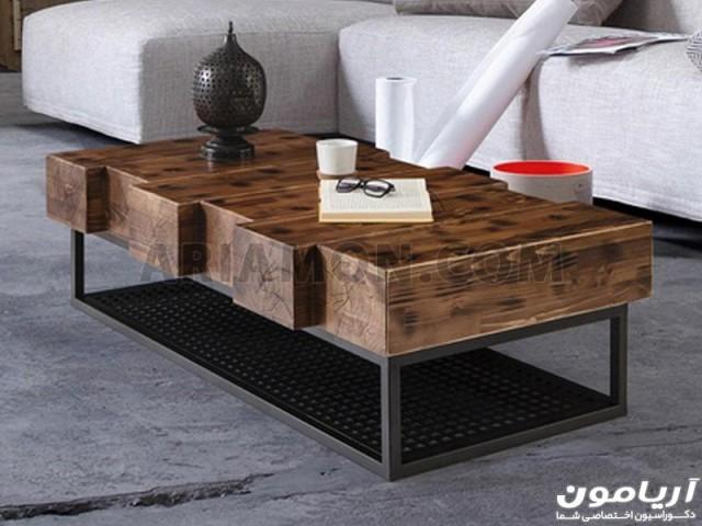 میز جلو مبلی چوبی کلاسیک مدل CT147