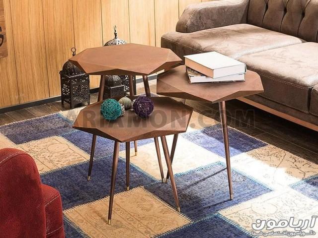 میز جلو مبلی پلکانی مدرن