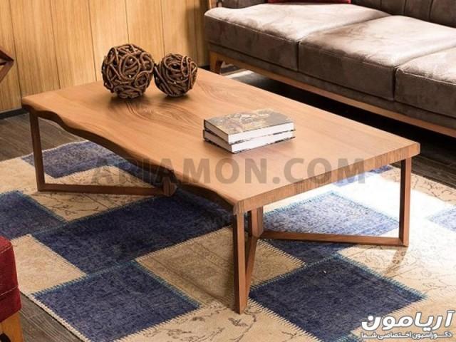 میز جلو مبلی مستطیل چوبی