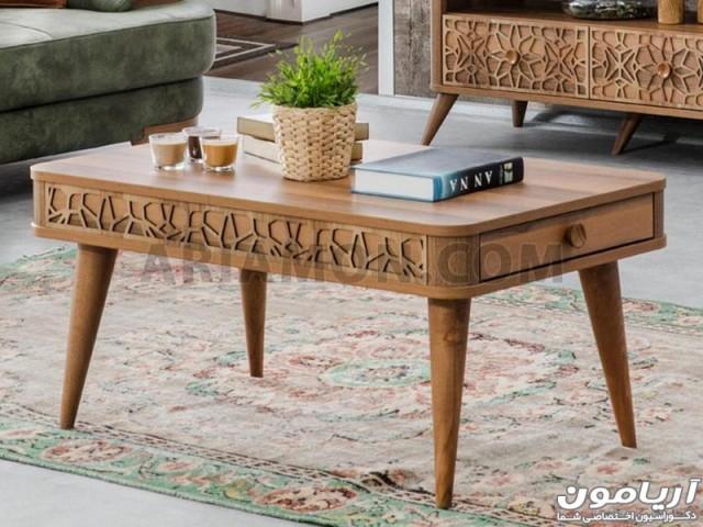 میز جلو مبلی چوبی CT177