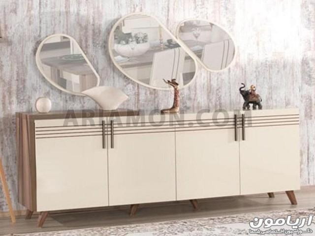 آینه کنسول سفید مدرن مدل CN102