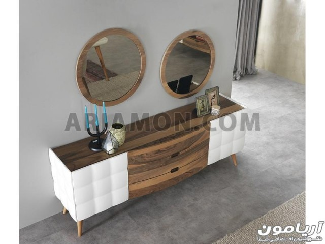 آینه کنسول چوبی کشو و کمد