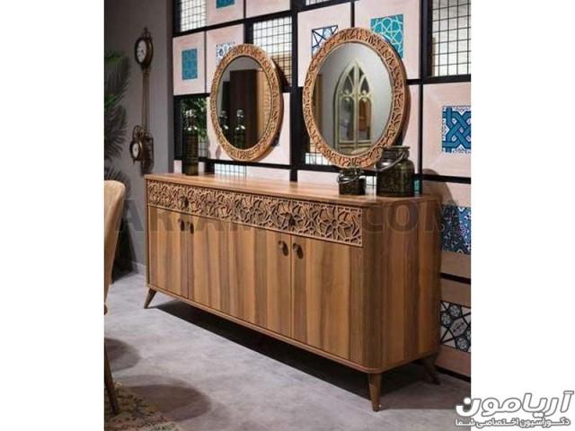 آینه کنسول چوبی