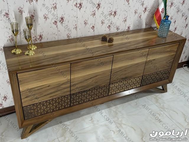 میز کنسول مدرن چوبی