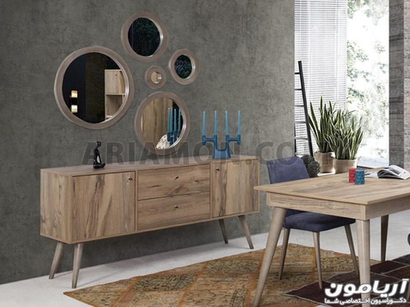 میز کنسول و آینه ام دی اف