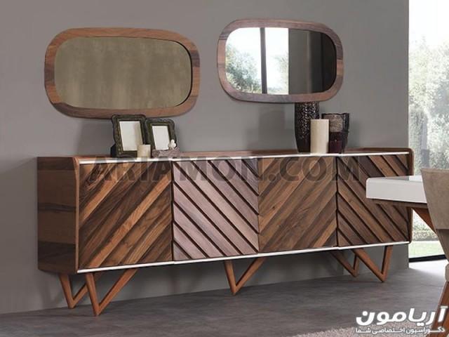 آینه کنسول چوبی مدرن