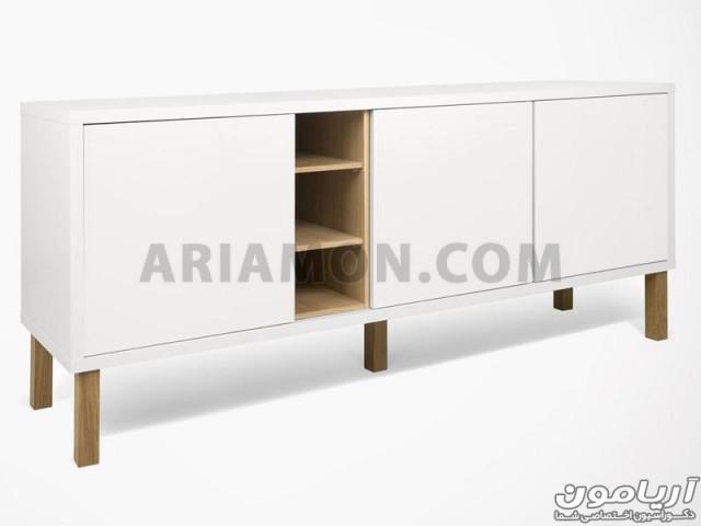 میز دکوری سفید ساده