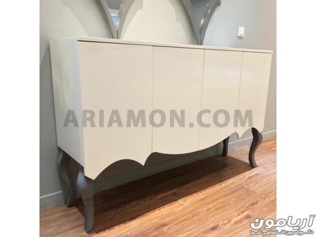 آینه کنسول سفید کلاسیک