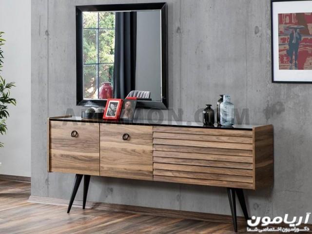 آینه کنسول چوبی ساده CN164