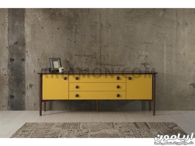 میز کنسول زرد CN166