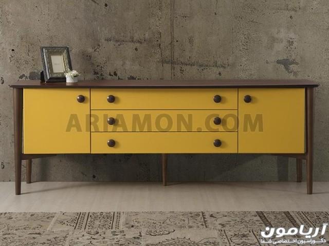 میز کنسول زرد