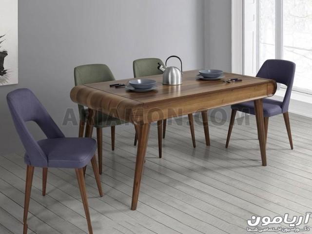 میز ناهار خوری کشو دار لبه گرد