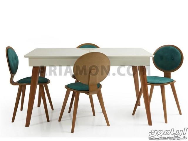 میز ناهار خوری سفید DT108