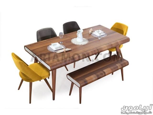میز ناهار خوری مدرن چوبی