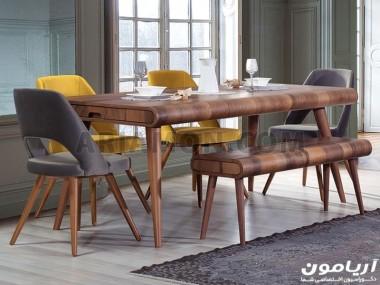 میز ناهار خوری چوب گردو