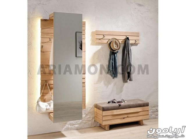 جاکفشی و جالباسی مدرن آینه دار