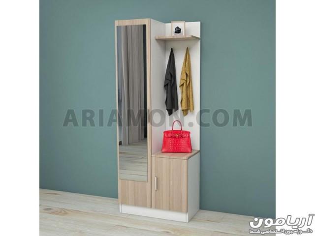 آینه قدی و کمد کفش دیواری