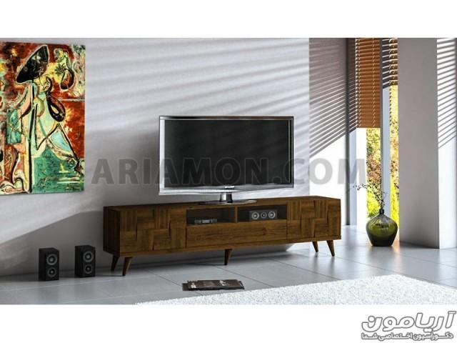 میز تلویزیون سفید چوبی مدل TS106