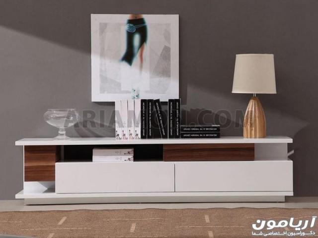 میز تلویزیون سفید مدرن مدل TS115