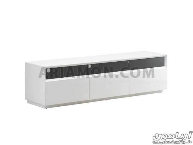 میز تلویزیون سفید ساده مدل TS117