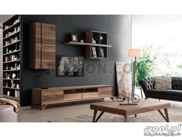 میز تلویزیون مدرن چوبی