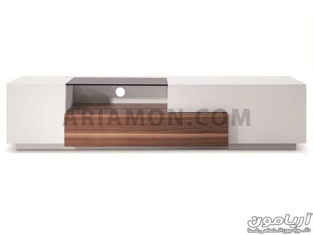 میز تلویزیون سفید MDF مدل TS123