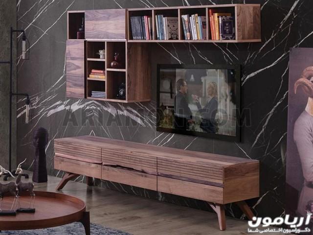 میز تلویزیون چوبی مدرن