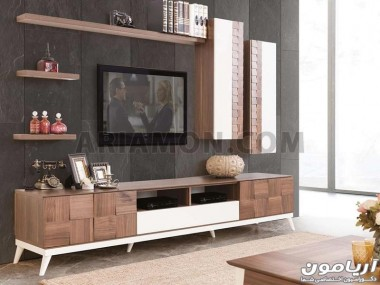 میز تلویزیون برجسته چوبی مدل TS142
