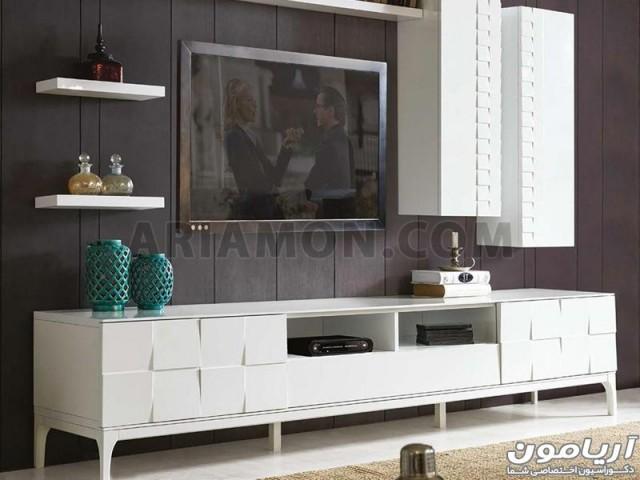 میز تلویزیون سفید ترک مدل TS143