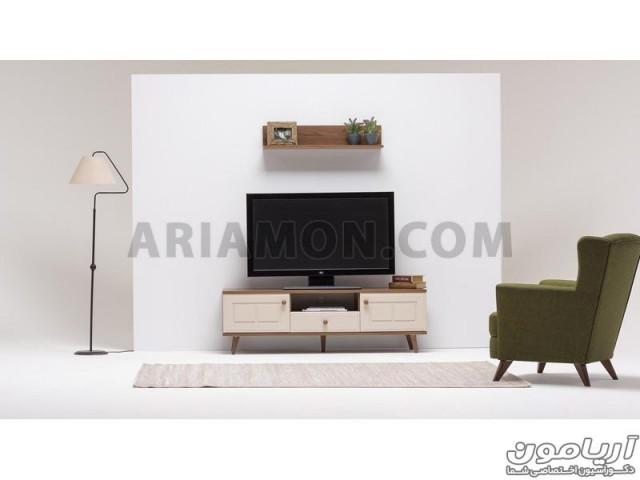 میز تلویزیون سفید کلاسیک مدل TS146