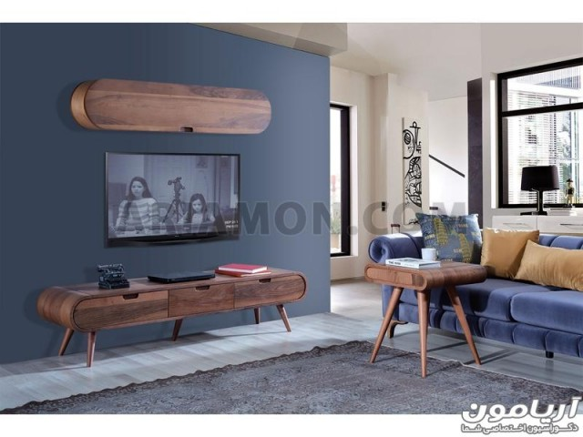 میز تلویزیون چوبی خم TS160
